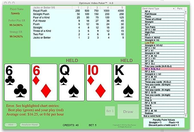 OPTIMUM VIDEO POKER Advantage Play Trainer For Windows And Macintosh