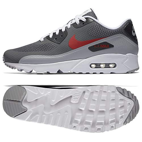 reputable site 3de1b e2bf6 Nike Men s Air Max 90 Ultra Essential Grey Red White 819474 006 ...