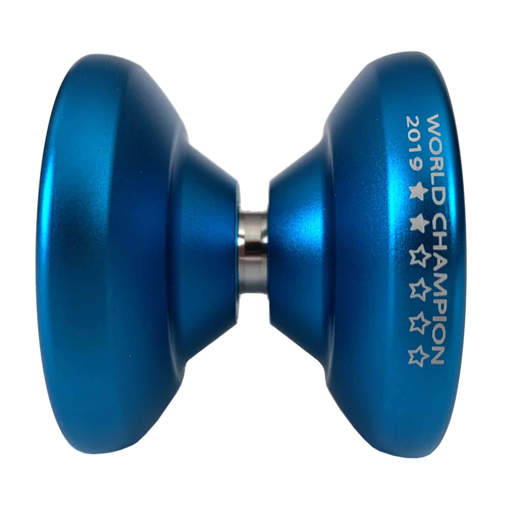 YoYoFactory World Champion Shutter Wide Angle Yoyo Color Aqua Collectible by YoYoFactory