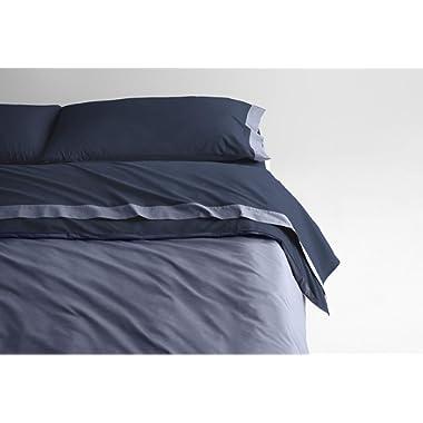 Casper Sleep Soft and Durable Supima Cotton Sheet Set, King, Navy/Azure