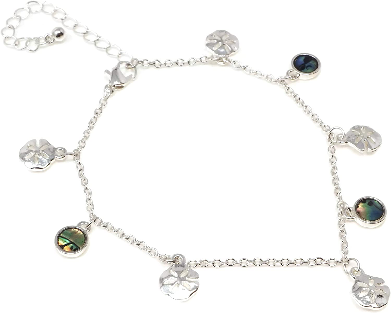 Elosee Sealife Theme Abalone Shell Dangling Chain Anklet