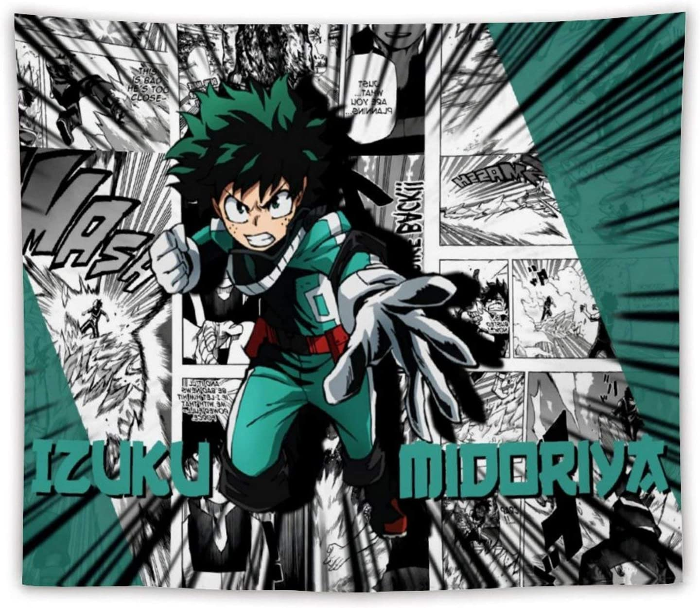 """Twaowaka Tapestry Wall Hanging My Hero Academia Tapestries for Living Room Beach Blanket Home Decoration(50""""x60"""")"""