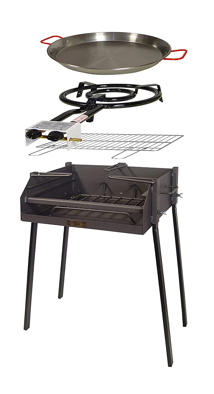 Imex The Fox 71589 Kit – Barbecue Square, 60 x 40 x 75 cm, Black Imex El Zorro