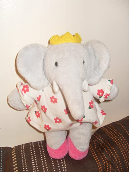 Amazon Com Soft Plush Young Queen Celeste Of Babar The Elephant 8