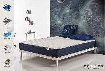 COSMOS® - Colchón visco elástico Orbit 160x200 cm - Núcleo HR Blue Latex® - Espuma de Soporte Active Latex® - 20 cm - Modelo ergonómico: Amazon.es: Hogar