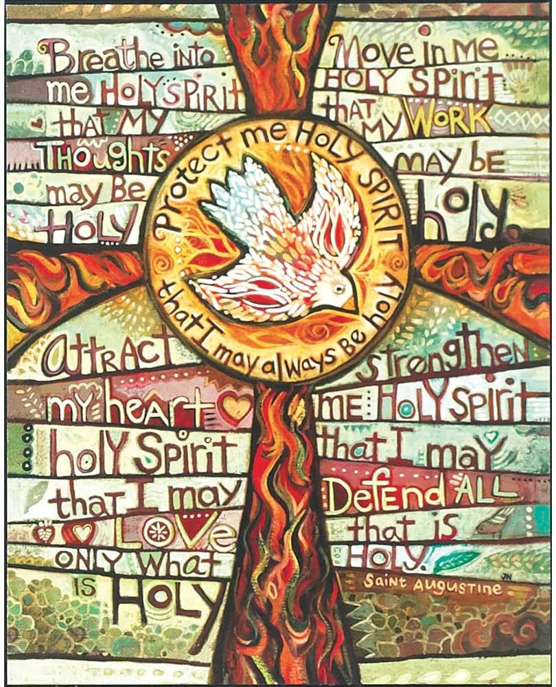 Dicksons Protect Me Holy Spirit That I May Always Be Dove 8 x 10 Wood Wall Sign Plaque