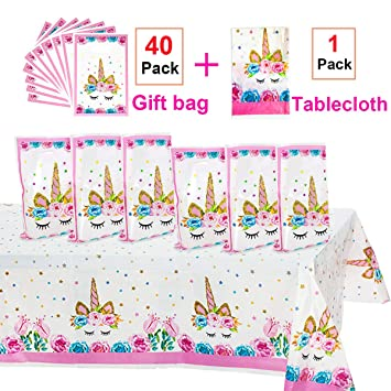 Amazon.com: Unicorn Party Supplies, 40 unidades Unicorn ...