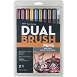Tombow Dual Brush Pen Art Markers, Muted Palette, 10ct