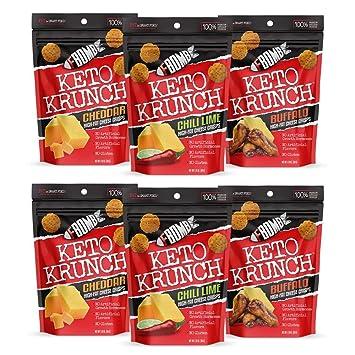 Amazon.com: FBOMB Keto Krunch Cheese Crisps 6 paquetes ...