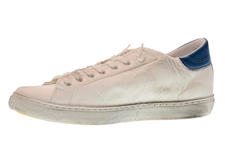 2 Star Hombre Bajas Zapatillas de Deporte 2SU 1802 Blanco/Azul Bianco / Azzurro