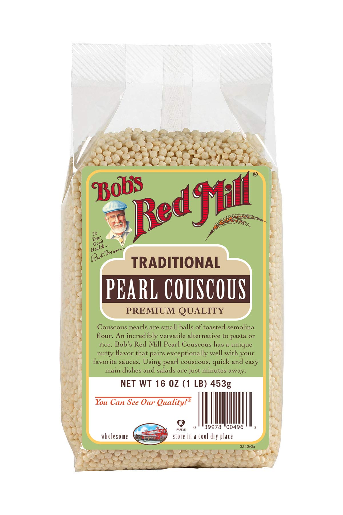 Bob's Red Mill Traditional Pearl Couscous, 16-ounce (Pack of 4) by Bob's Red Mill