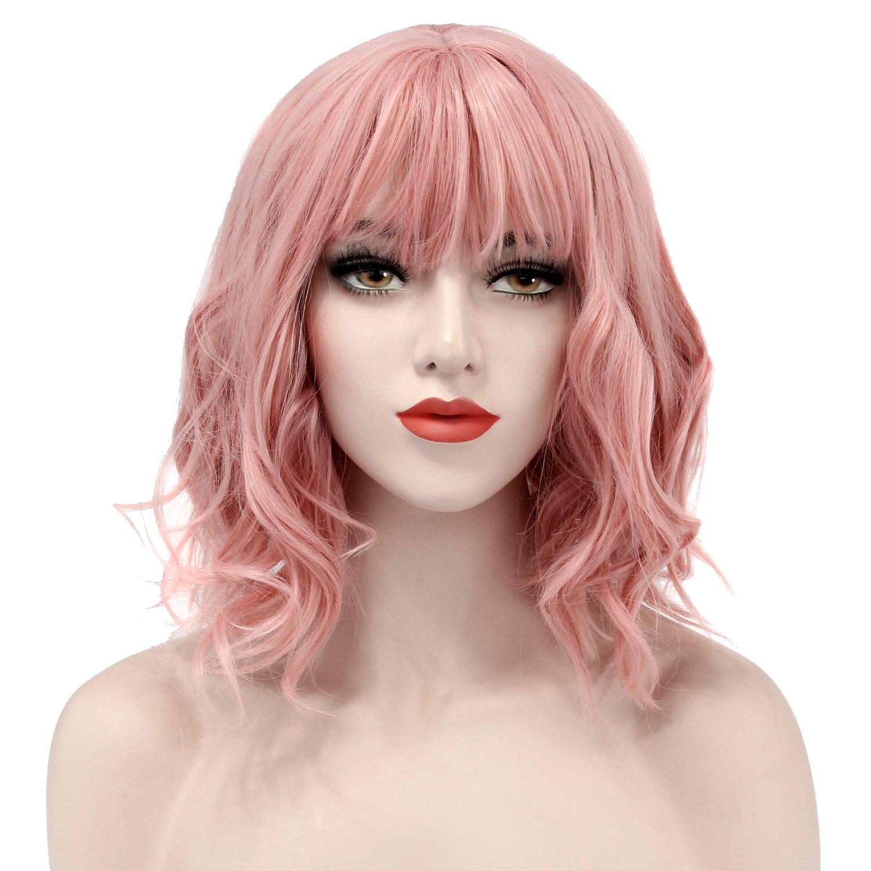 Amazon.com  Short Pink Wig 825a370f3162