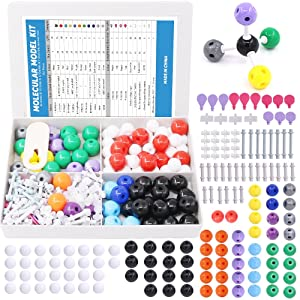 Swpeet 252 Pcs Molecular Model Kit for Inorganic & Organic Molecular Model Teacher and Student Kit  - 86 Atoms & 153 Links & 12 Orbitals & 1 Short Link Remover Tool
