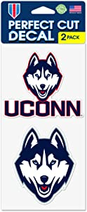 """WinCraft UCONN Huskies Connecticut Huskies 4""""x8"""" Die Cut Decal (Two - 4""""x4"""" Decals) - U.S. Soccer - World Cup"""