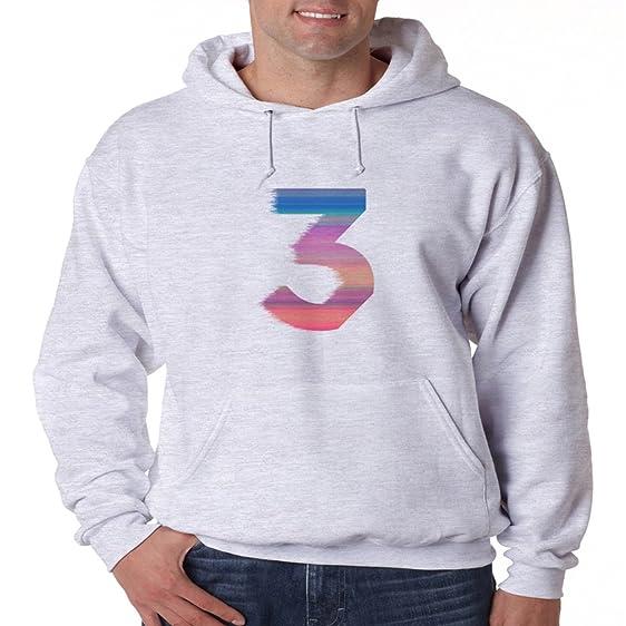 Chance The Rapper 3 Color Logo Hoodie Hip Hop Chicago Sweatshirt Acid Rap WL Grey