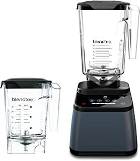 product image for Blendtec Designer 625 Blender (96 oz) and Mini WildSide+ Jar (46 oz) Bundle Commercial-Grade Power, 4 Pre-Programmed Cycles, 6-Speeds, Sleek and Slim, Slate Grey