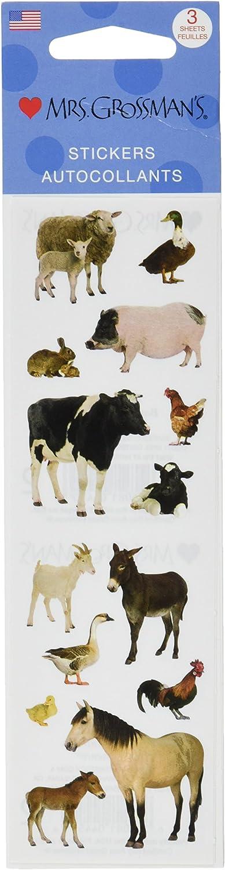 Mrs Mrs Grossmans Stickersbarnyard Set 6 Grossman/'s Stickers-barnyard Animals