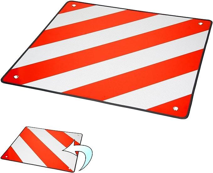 Ecd Germany Warntafel Für Italien Und Spanien Aus Aluminium Mit 4 Befestigungsösen 50 X 50 Cm Rot Weiß Reflektierendes Warnschild Für Fahrradträger Heckanhänger Wohnwagen Anhänger Auto
