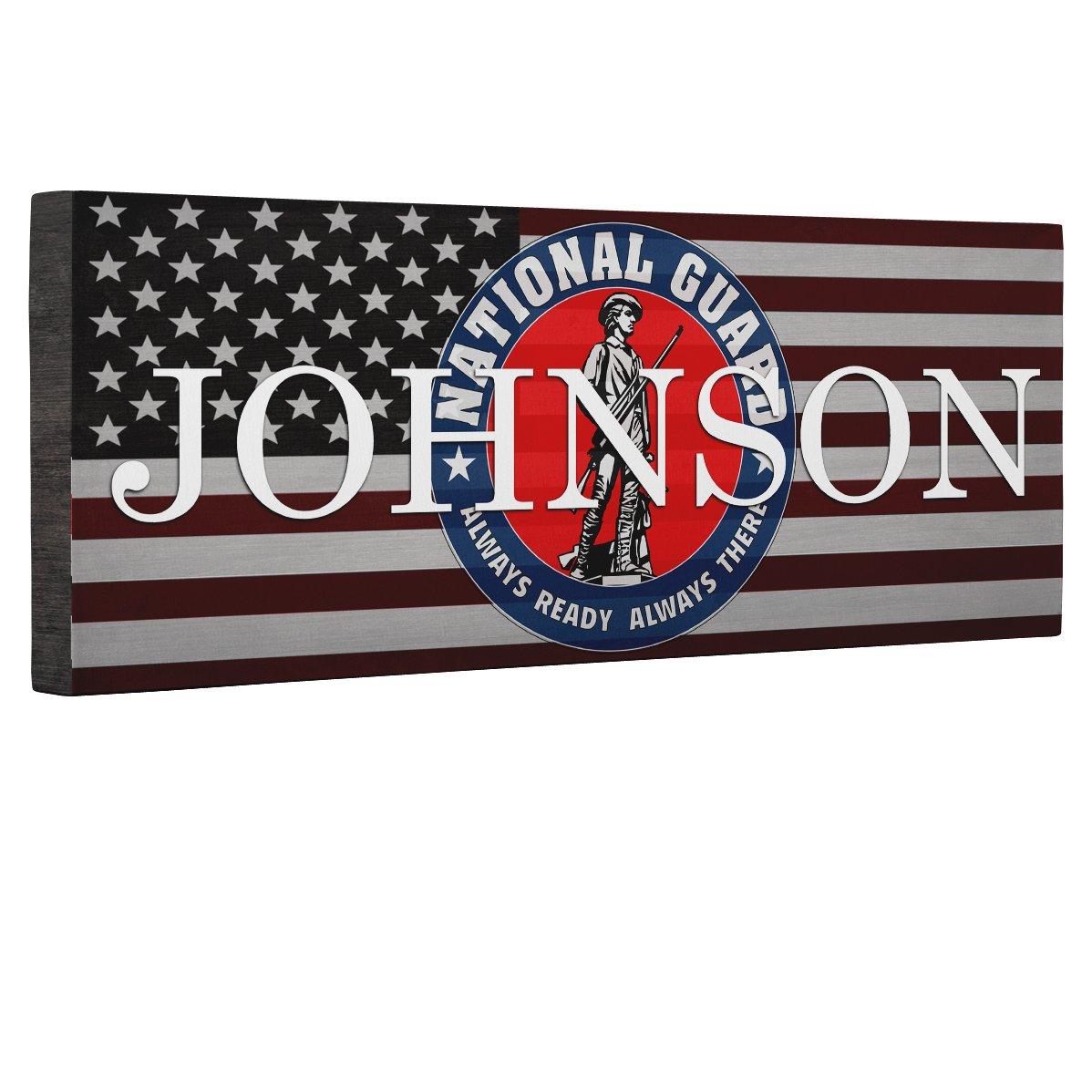 Hero National Guard Flag CANVAS Wall Art Home Décor