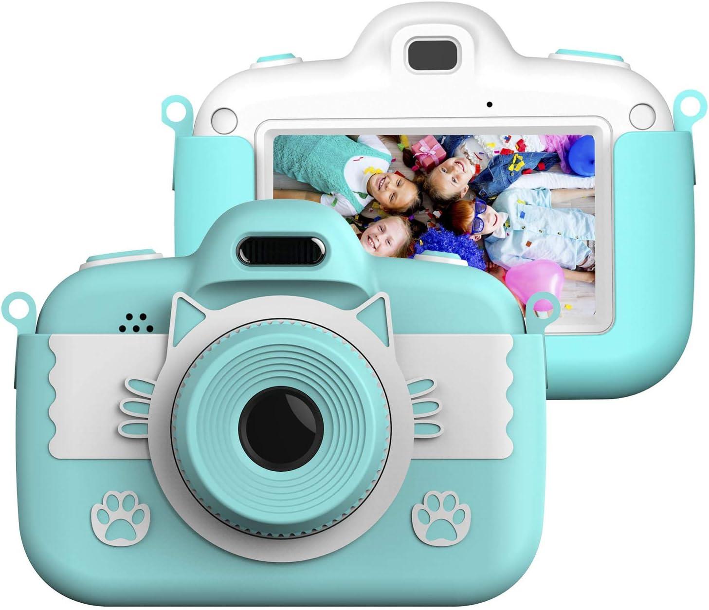 Vannico Camara de Fotos para Niños, Camara Fotos Infantil 8 MP 3 Inch Pulgadas Táctil Juego Vídeo con Tarjeta TF 16GB Niños Regalos Cumpleaños Navidad (Azul): Amazon.es: Electrónica