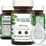 Natural Nutra Zinc Gluconate 50mg Supplement for Healthy Immune Support, Healthy Skin, Boosts Memory Learning, Enhance…