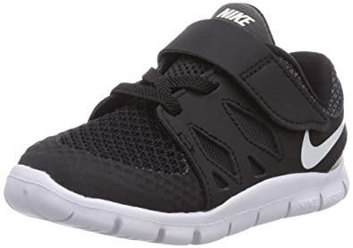 Nike Toddlers Free 5 (TDV) Black/White/Anthracite Running Shoe 8 Infants