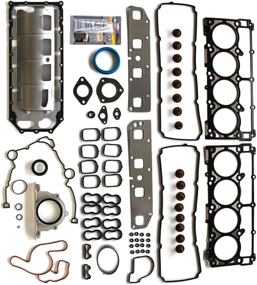 SCITOO Replacement for Full Head Gasket Set Dodge Ram 1500 Jeep Chrysler 300 5.7L V8 2003-2008 Engine Head Gaskets Sets Kit