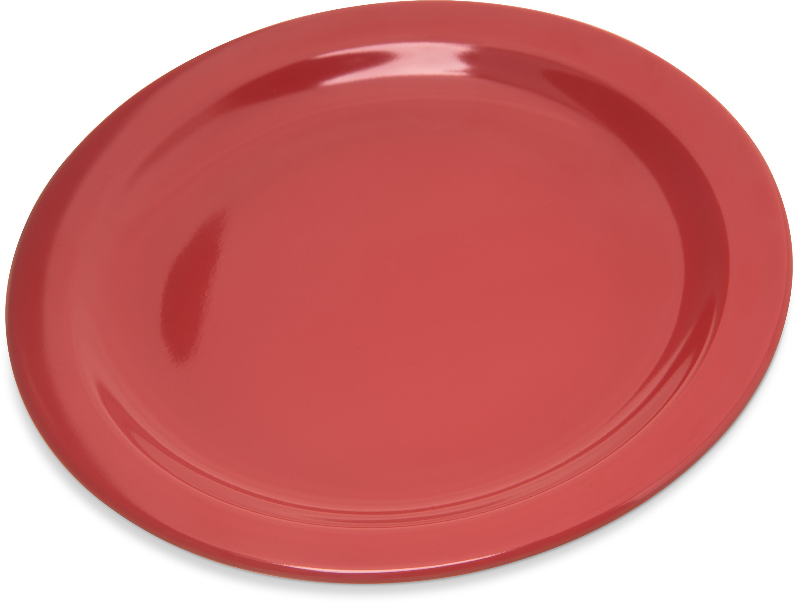 Carlisle 4350305 Dallas Ware Melamine Salad Plate, 7.19'' Diameter x 0.74'' Height, Red (Case of 48)