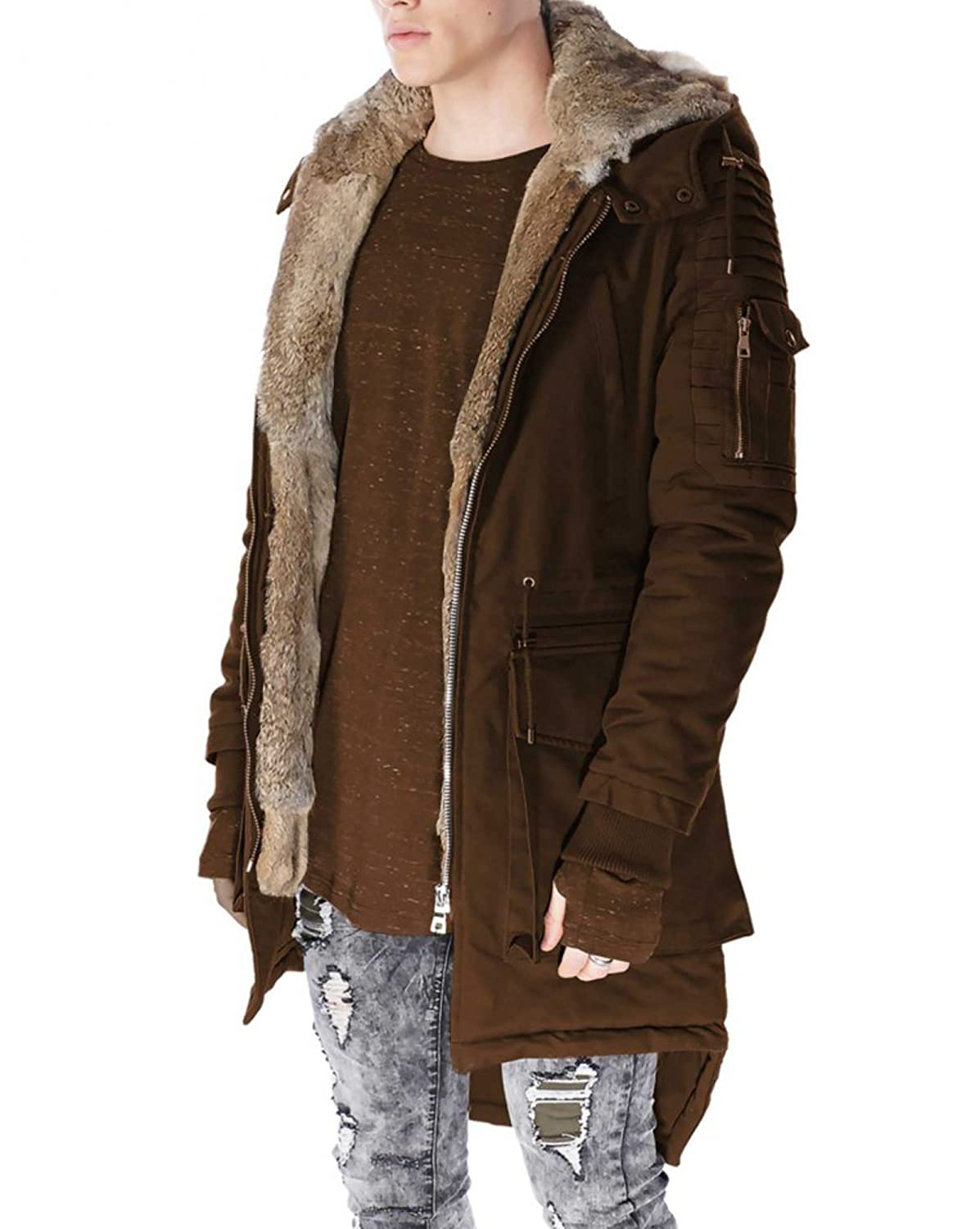 Project X - Parka man brown fur and hood