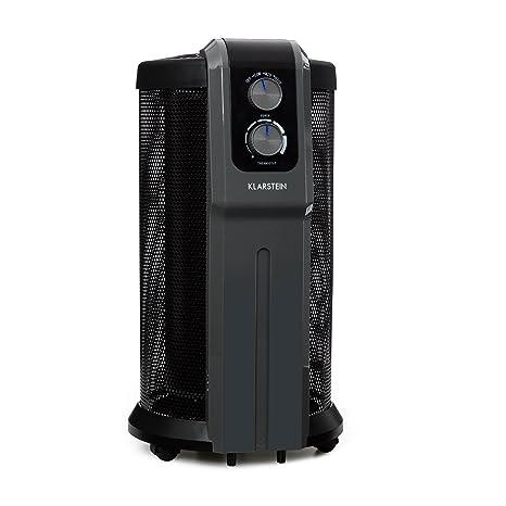 Klarstein Datscha Analógico Radiador Calefactor con Alcance 360° • 2200 W • Termostato analógico •