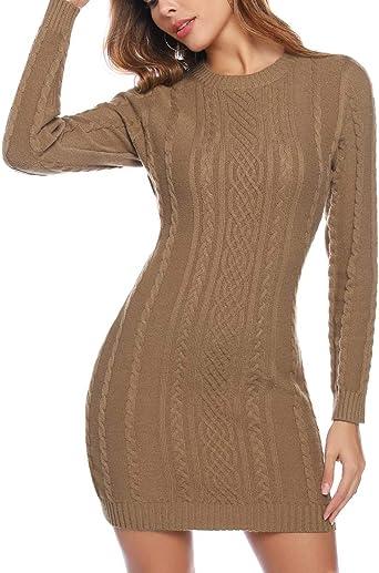 Pullover da Donna Pullover washed Vestito Abito a Maglia Maglione 34 36 38 S M