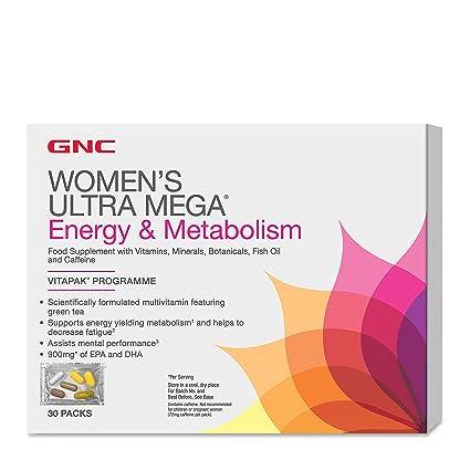 Gnc Ultra mega energía y metabolismo para mujeres