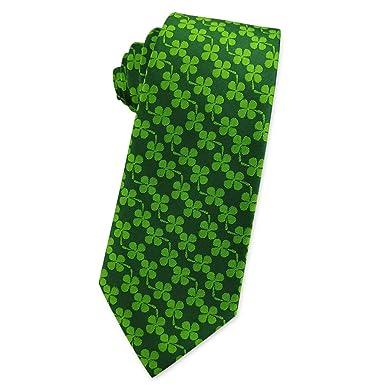KOOELLE - Corbata para hombre, diseño de trébol de jacquard ...