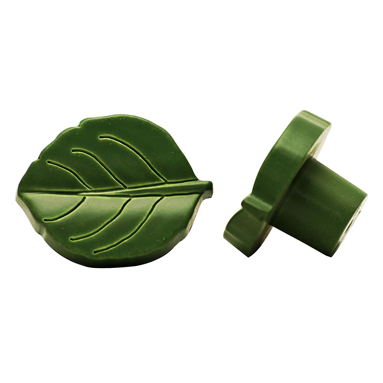 dise/ño hoja verde di/ámetro: 35 mm Pomo para muebles