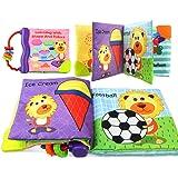 Coolplay 布絵本 カシャカシャ布えほん 赤ちゃん おもちゃ 玩具 カラフル ソフトブック 早期教育 子供 動物 図形やカラーの認識(ライオン)