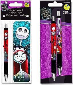 Inkworks Nightmare Before Christmas Gel Pens Set - 3 Premium Pens with Deluxe Bookmark