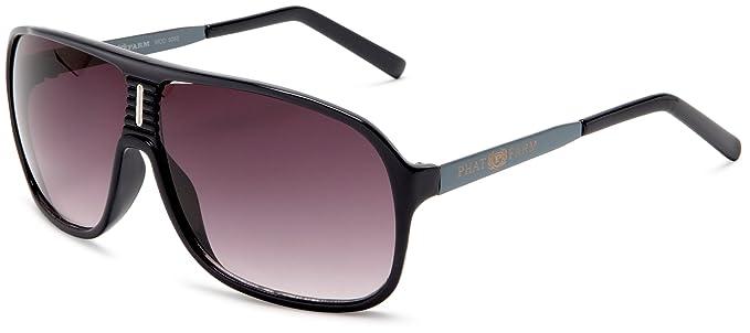 Phat Farm Men\'s 5052 Round Sunglasses,Navy Frame/Black Lens,one size ...