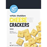 Amazon Brand – Happy Belly White Cheddar Cheese Cracker, 12.4 ounce