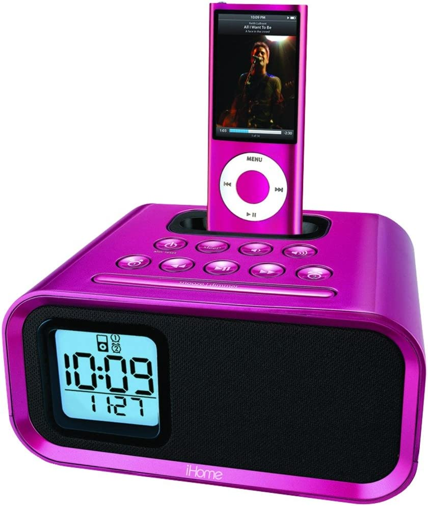Discontinued by Manufacturer iHome iH22PV Dual Alarm Clock for iPod