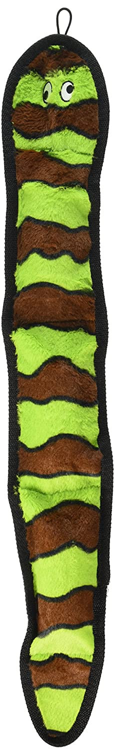 Petlou Durable Squeeze Me Plush Soft Squeaker Interactive Dog Chew Toy, squeaks, floats, washable, ripped resistant (26  RELIABLE-SNAKE)