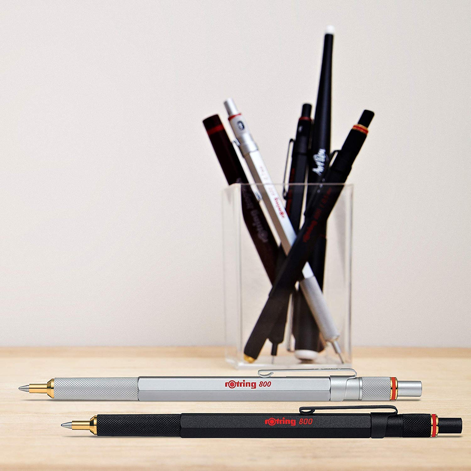 rOtring 800 Retractable Ballpoint Pen, Medium Point, Silver by Rotring (Image #5)