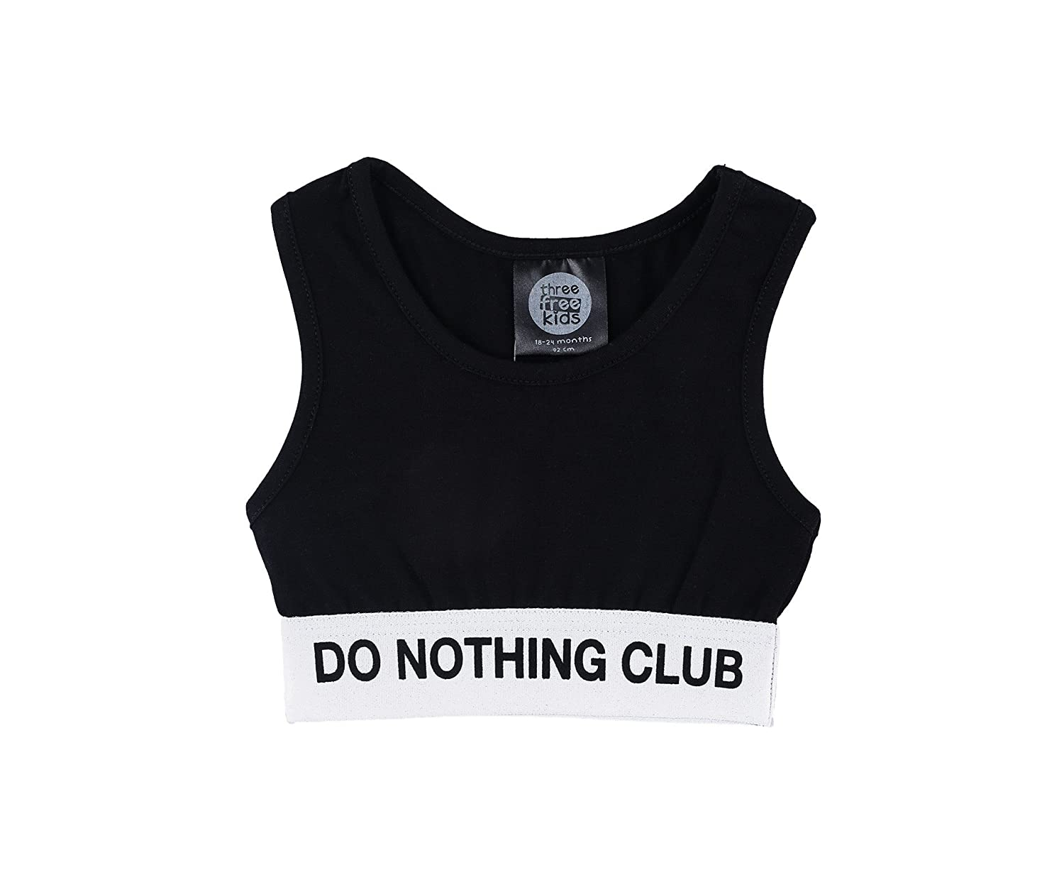Three Free Kids Do Nothing Club Girls-Kids Crop Tank top Gymnastics