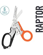 LEATHERMAN - Raptor Medical Shears with Strap Cutter and Glass Breaker, Black-Orange with MOLLE Compatible Holster