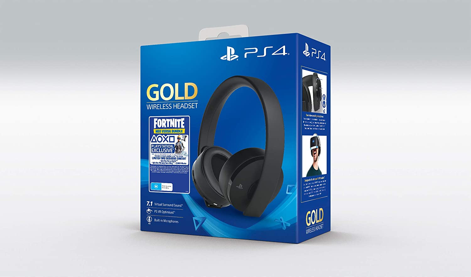 Sony - Gold Black Wireless 7.1 Gaming Headset Fortnite Neo Versa ...
