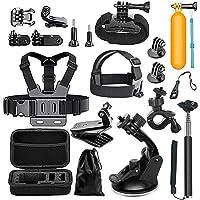 Megashock Action Camera Accessories Kit for GoPro Hero 6 Hero 5 Hero 4 Gopro Hero Session Hero 3 AKASO EK7000 EK5000 Apeman A80 A70 Action Camera Accessory Essential Bundle Kit