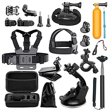 Megashock Action Camera Accessories Kit for GoPro Hero 6 Hero 5 Hero 4 Gopro Hero Session Hero 3 AKASO EK7000 EK5000 Apeman A80 A70 Action Camera Accessory Essential Bundle Kit