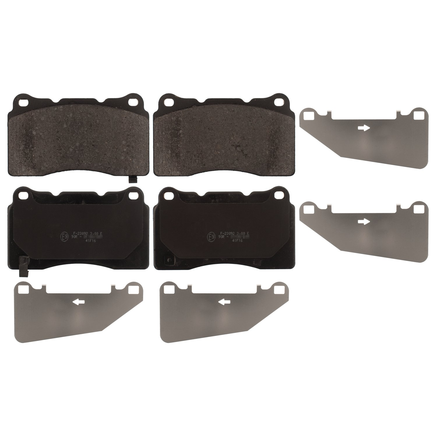 Borg /& Beck BBP1971 Front Brake Pads Brembo Includes Wear Indicators//Leads