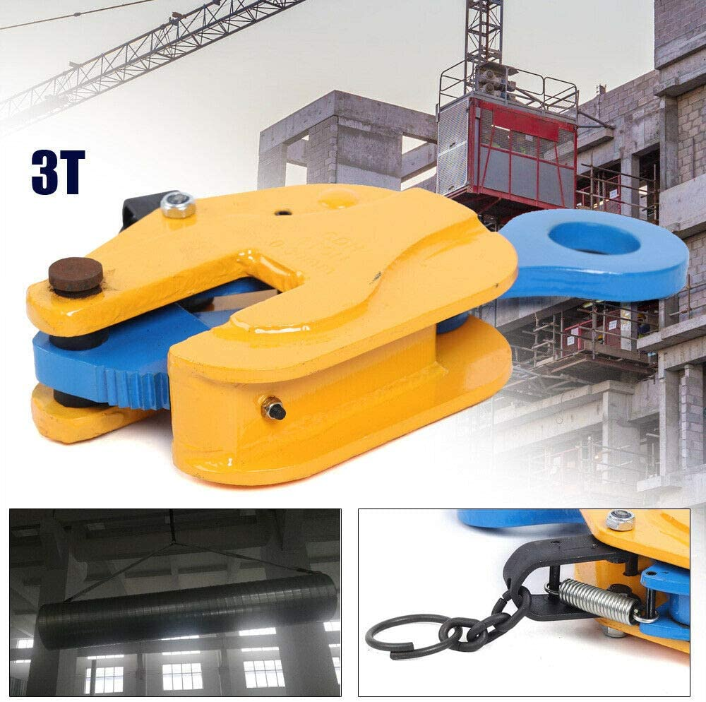 Gdrasuya10 V-Lift Industrial Vertical Plate Lifting Clamp Alloy Steel 3 Tons with Lock for Lifting and Transporting