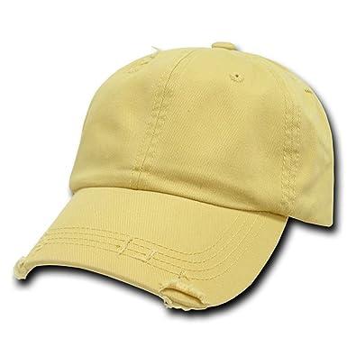 Decky Gorra de béisbol estilo polo envejecido, color amarillo ...
