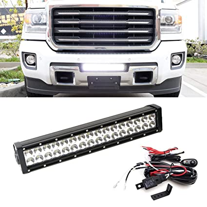 ijdmtoy lower grille mount led light bar kit for 2015-up gmc sierra 2500  3500